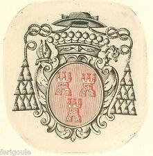 EX-LIBRIS de Louis-Joseph de CHATEAUNEUF de ROCHEBONNE Lyonnais-Languedoc.