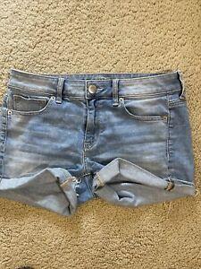 AE American Eagle Midi Stretch Denim womens jean Shorts size 8