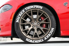 "TIRE LETTERING MICKEY THOMPSON PERMANENT Stickers Wheel 14""-24""Decal SET 1.25"""