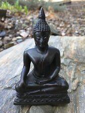 """Subduing Mara"" Seated Thai Buddha Statue in Half-Lotus or ""Hero"" Posture"