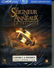 LE SEIGNEUR DES ANNEAUX LA TRILOGIE  COFFRET6  BLU RAY NEUF   ref 201217158