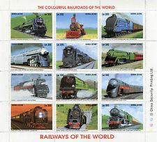 Sierra Leone 1996 MNH Railways World 12v MS IV Trains Locomotives Great Western