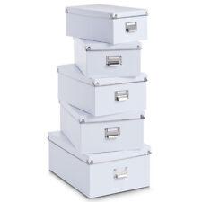 Zeller 17951 Boxen-set 5-tlg. Pappe(weiß)