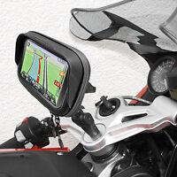 """Motorrad Navi GPS Halterung Tasche 5"""" mit Blendschutz für BMW K1200 K1300 R S"""