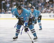 Dave Lowry signed San Jose Sharks 8x10 photo autographed