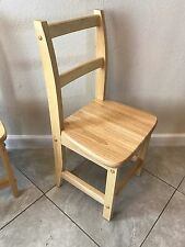 "ECR4Kids 2-Rung Ladderback Chairs, 14"", Natural, 2-Pack"