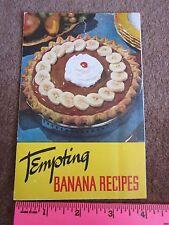 Vintage Banana Recipes 1950's Bananas w/Curry Sauce, Chocolate Cream Pie MORE