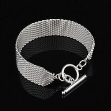 newly 925 Silver Plated limited Nice Special Link 7.8 inch Chain Bracelet Bangle