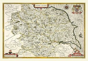 Yorkshire 1611 John Speed 1000 Piece Jigsaw Puzzle (jg)