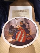 Norman Rockwell Mothers Day 1980 With Original Box And Coa