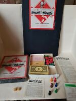 Vintage Waddingtons Classic Monopoly circa 1937 complete with  wooden houses