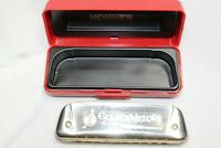HOHNER GOLDEN MELODY HARMONICA KEY OF D MADE IN GERMANY No. 542/20 with Case