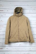 Men's ASPESI Quilted Insulated Jacket with Hood - Beige/Tan - Large