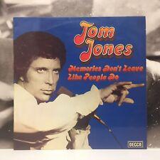 TOM JONES - MEMORIES DON'T LEAVE LIKE PEOPLE DO LP VG+/EX- 1975 ITALY SKLI 5214