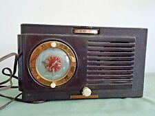 Old General Electric Model 500 Radio Alarm Clock Tube Radio (Bakelite Case)
