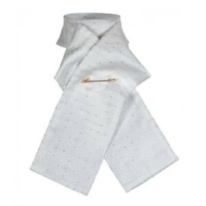 Shires Brocade Ready Tied Riding Stock - White - Small
