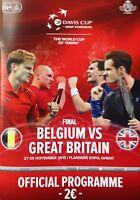 2015 DAVIS CUP FINAL BELGIUM v GREAT BRITAIN GB GBR MURRAY OFFICIAL PROGRAMME