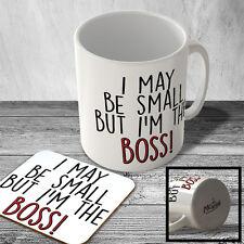 MAC_FUN_962 I may be the small but I'm the BOSS! - funny mug and coaster set
