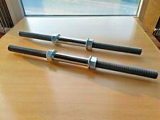 CUSTOM LENGTH Dumbbell Bars Set Metal Handle with Spinlock Collar for 1'' weight