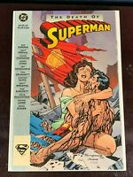 Near Mint THE DEATH OF SUPERMAN Graphic Novel 1st print DC Comic TPB Book (1993)