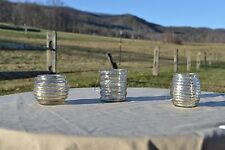 Home Reflections Set of 3 Mercury Glass Flameless Tealight Holder