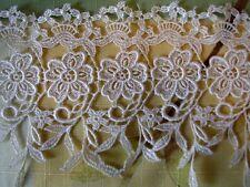 "Victorain Venise Lace Floral Edge Rayon Guipure Bridal 3-1/2""x 72"" (2yd). #1389v"