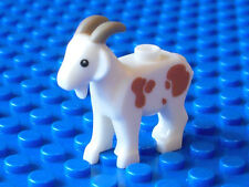 LEGO - Minifig, Animal - Goat with Dark Tan Horns & Dark Spots - VERY RARE