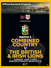 COMBINED COUNTRY v BRITISH & IRISH LIONS 11 Jun 2013 RUGBY PROGRAMME MINT
