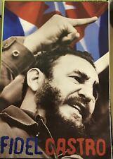 Fidel Castro Cuban Flag Poster 24 X 36