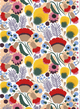"Marimekko Ojakellukka half yard 18"" x 56"", cotton, Finland, colorful"