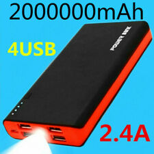 2000000mAh Portable 4USB Travel Power Bank LED External Battery Phone Charger US