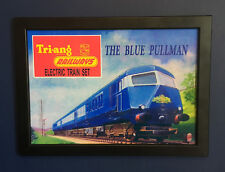 Triang Hornby Railways The Blue Pullman 1964 Framed A4 Size Poster Sign Leaflet