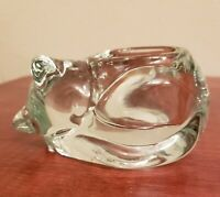 YANKEE CANDLE Glass Cat Tea Light  Candle Holder