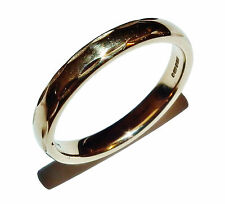 Fully Hallmarked 9ct Yellow Gold Patterned 3mm Wedding Band Ring - UK Size: M