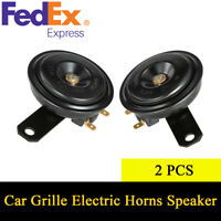 2Pcs 48W 12V 4A 110db Universal Car Truck Front Grille Electric Horns Speakers