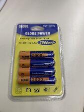 4x Globe Power Akku Batterie AAA 3600mAh 1.2V Rechargeable Wiederaufladbar Ni-MH