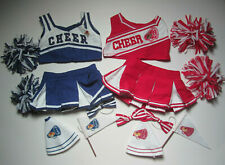 CHEER - Red & Blue Cheerleading Outfits for Build-a-Bear Workshop Bears