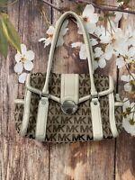 Authentic VTG Michael Kors Signature Shoulder - Brown - Handbag