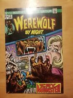 WEREWOLF BY NIGHT #12 1973 Marvel Bronze Age comic Nice