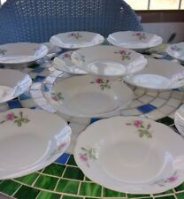 RARE Emerald Collection China Fruit Bowls 4 Piece sets White with Primroses