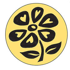 Manuscript Decorative Wax Sealing 17mm Coin Seal - Flower