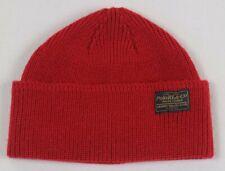 Polo Ralph Lauren Red Merino Wool Beanie Hat Skull NWT
