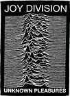JOY DIVISION UNKNOWN PLEASURES PATCH PUNK ROCK BLACK AND WHITE IAN CURTIS