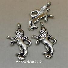 10pc Tibetan Silver Lion Animal Pendant Charms Beads Jewellery Making JP1091