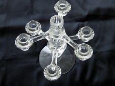 Crystal Glass CANDLE HOLDER Candelabra Wedding Centerpiece