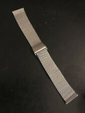 Vintage Rare Swiss Band 18mm Stainless Mesh Bracelet