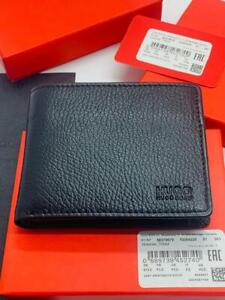 BRAND NEW HUGO BOSS VICTORIAN TRIFOLD BLACK LEATHER MENS WALLET