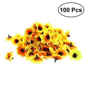 100pcs Artificial Sunflowers Fake Flower Floral Bouquet Home Garden Decor