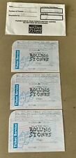 "3 ROLLING STONES 1998 TICKETS ""BRIDGES TO BABYLON TOUR AMSTERDAM ARENA ENVELOPE"