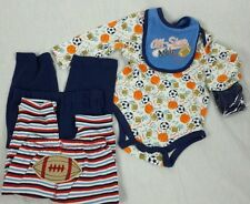 NEW Baby Boy Clothes Lot Sz 6-9 M Long Sleeve Football Sports Outfit 2 pants